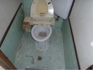 耐震改修工事と同時にトイレ改修