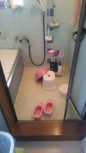 お風呂入り口施工前