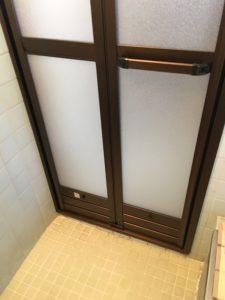 浴室入口施工後